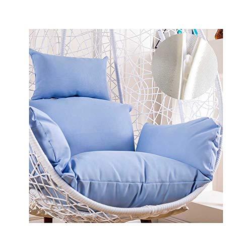 Ophangende rotan schommelstoel eikussen gevormd met armleuning buiten/binnenshuis Tuin Patio Meubelkussen (51x56cm)