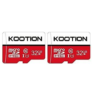 KOOTION 32GB Micro SD Card 2-Pack Class 10 Micro SDHC Card UHS-I Memory Card Ultra High Speed TF Card, C10, U1, 32 GB