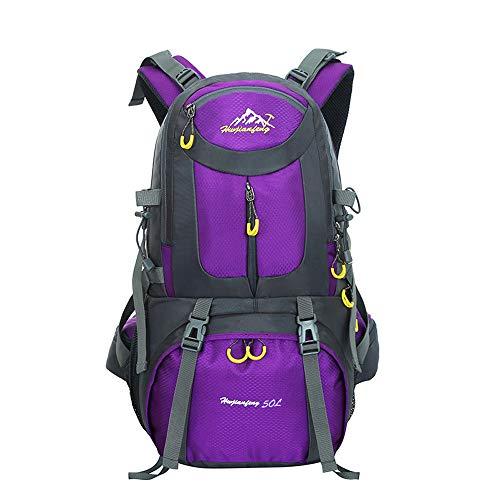 Hiking Backpack 50L Waterproof Huwaijianfeng Outdoor Sport Daypack With Rain