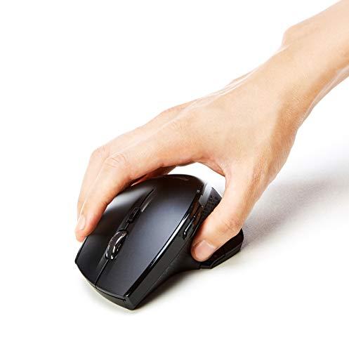 Amazon Basics - Ergonomische kabellose Maus mit Schnell-Scrolling, normale Größe