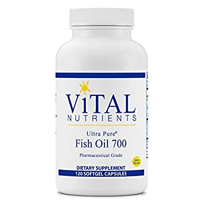 Vital Nutrients - Ultra Pure Fish Oil 700 (Pharmaceutical Grade) - Hi-Potency Wild Caught Deep Sea Fish Oil, Cardiovascular Support with EPA and DHA - 120 Softgels per Bottle