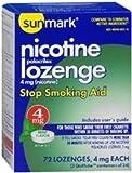 Sunmark Nicotine Polocrilex Lozenge 4 mg Mint - 72 ct