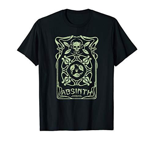 Absinth Design im Jugendstil Look T-Shirt