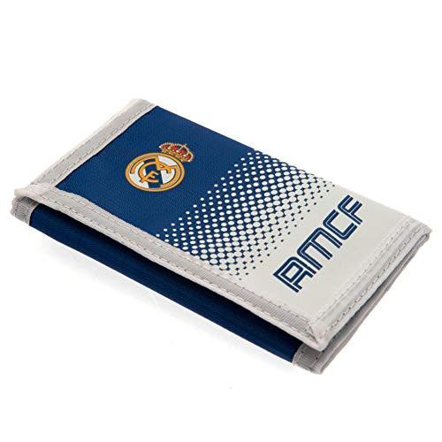 Real Madrid FC - Cartera de nylon con cierre adhesivo (12 x 8cm) (Blanco/Azul)