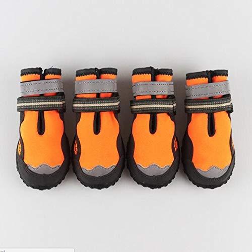 HXKJ Zapatos para Perros Transpirables al Aire Libre, Botas para Perros, pequeños, medianos, Grandes, Zapatos Antideslizantes, Resistentes al Desgaste, Reflectantes para Mascotas
