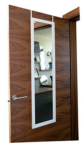 Türhängespiegel Weiß 1258x358 mm zeitlos eleganter MDF Rahmen von B.D.Art