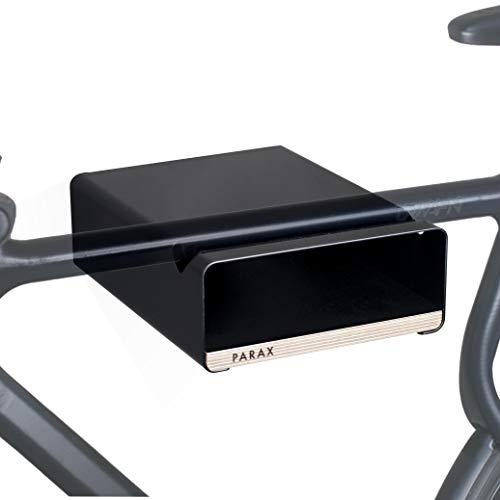 PARAX Soporte de pared para bicicleta, fabricado en Alemania, S de color negro, apto para bicicletas de carreras, Hardtail Cityrad Tourenrad Tourenrad - varios estantes