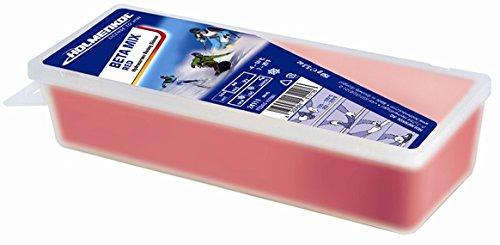 Holmenkol Unisex– Erwachsene, rot, Skiwachs, 150 Gramm