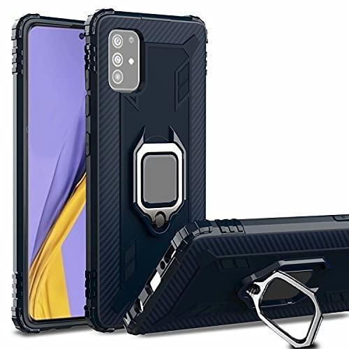 FMPCUON Hülle für Samsung Galaxy Note 20, Samsung Galaxy Note 20 Handyhülle, Samsung Galaxy Note 20 Ringhalter Schutzhülle, 360 Ständer Rüstung Cover TPU Bumper Hülle Handy Hüllen, Blau