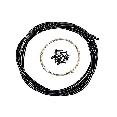 Aulola anteriore e posteriore interno esterno filo freno Gear cable set, Black