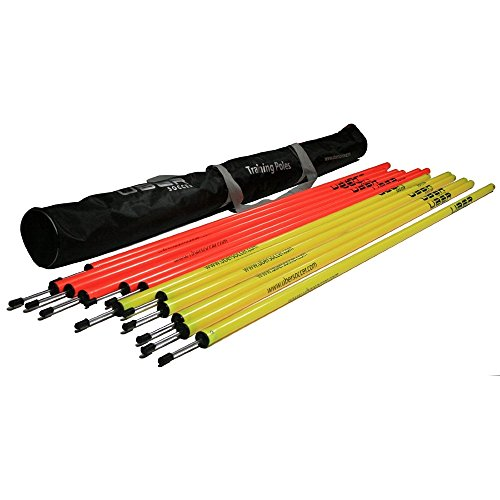 Uber Soccer Professional Quality Speed and Agility Training Poles - Set of 12 Poles with Carrying Bag
