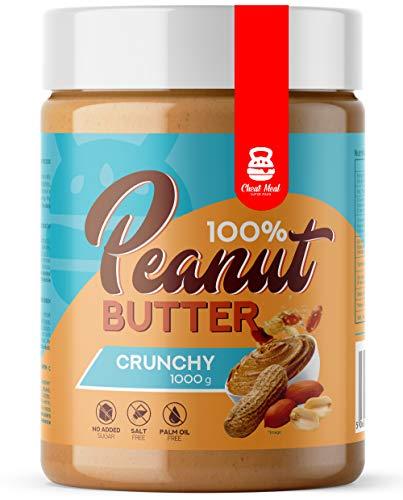Cheat Meal Peanut Butter 100% 1er pack x 1000g – Erdnusscreme - Erdnussbutter Ohne Zucker - ohne Zusatzstoffe - 100% Geröstete Erdnüsse