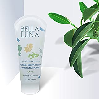 BELLA LUNA HERBAL 2 BOTTLES OF MOLSTURIZING CONDITIONER ANTI HAIR LOSS FALL REGROWTH REGROW OILY HAIR