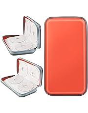 COOFIT Estuche para CD, Porta CD de 80 Disco Almacenamiento DVD Bolsas Funda Protectora de Organizador Protectora de plástico y VCD de plástico (Naranja)