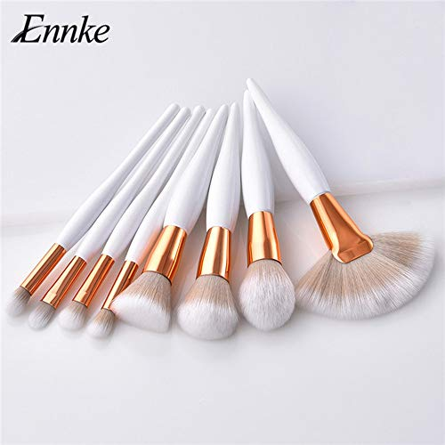 8 pièces pinceau de maquillage professionnel ensemble fond de teint poudre fond de teint fard à paupières maquillage ventilateur brosse pinceau maquillage ensemble applicateur de fard à paupières