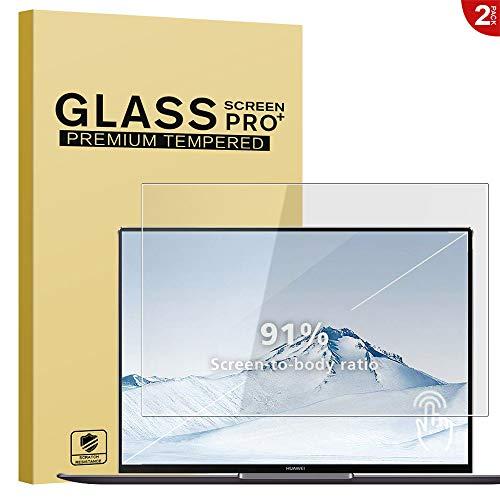 "2 X Huawei MateBook X Pro Panzerglas Schutzfolie, 9H Härte HD Tablet Dispayschutzfolie [Blasenfrei] [Anti-Kratzer] Screen Protector Tempered Glass für Huawei MateBook X Pro 13.9"" - Transparenz"