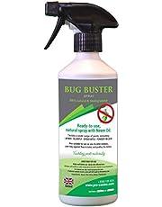 Bug Buster Plant Trigger Spray 500ml - 100% natuurlijk en biologisch afbreekbaar - Veilig voor huisdieren - Plant Base Ingrediënten inclusief Neem Olie.