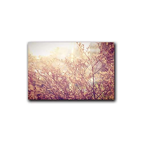 LiMengQi Skandinavien Stil Blumengras Wandkunst Leinwand Malerei Pflanze Landschaft Poster Druck Dekoratives Bild Moderne Wohnkultur (kein Rahmen)