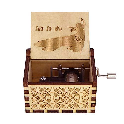 Carillon di Star Wars in Legno Nero, Carillon a manovella, Carillon di Natale a manovella Piccolo Carillon Magico Idee antiche intagliate Artigianato per Decorazioni domestiche per Adulti