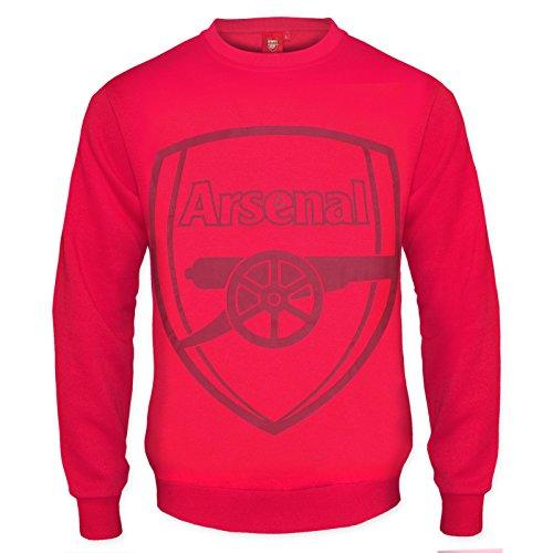 Arsenal FC - Herren Sweatshirt mit Vereinswappen - Offizielles Merchandise - Geschenk für Fußballfans - Rot - L