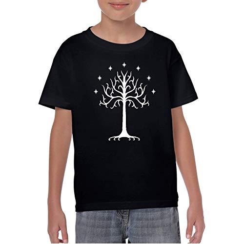The Tree of Gondor - Camiseta niño Manga Corta (Negro, 11 años)