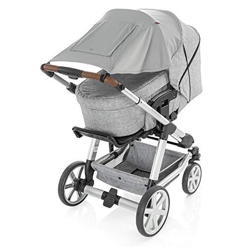 reer ShineSafe Premium Sonnensegel und Schlummertuch für den Kinderwagen, grau