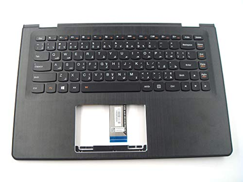 Piezas originales para Lenovo ideapad Yoga 500-14ISK Yoga 500-14ACL Yoga 500-14IBD 14 pulgadas Palmrest con teclado retroiluminado árabe 5CB0J34024
