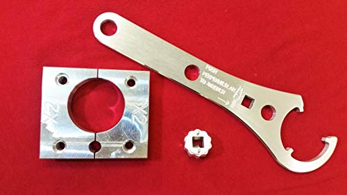 WCM Tool set/kit compatible for Fox Float X2/DHX2 Shock- Clamp/Vise block+ Sealhead Wench+Base Valve socket for DH x2