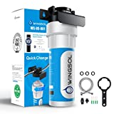 Wingsol Under Sink Water Filter, NSF/ANSI 53&42, reduce 99.99% Lead, Odor, Arsenic, Chlorine, Balance PH, 8K Gallons/24 months, Quick Change System, Good with Well Water, Life Indicator, USA Tech