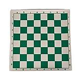 MIAOGOU ajedrez Internacional 7pc Torneo De Vinilo Tablero De Ajedrez para Niños Juegos Educativos Verde Blanco Tablero Magnético para El Ajedrez 34.5cm