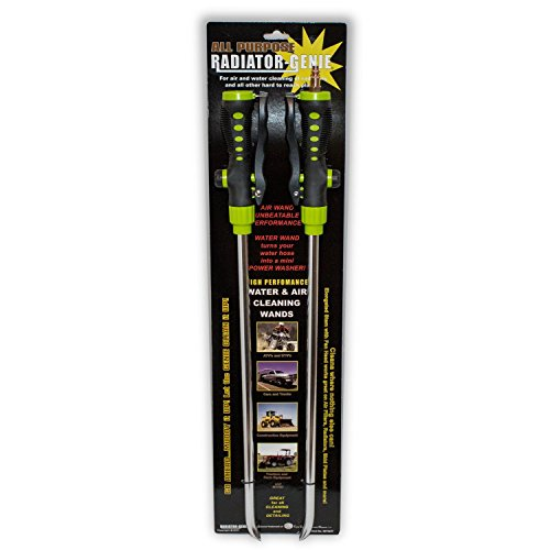 Radiator Genie - Water & Air Cleaning Wands for High Efficiency Cooling Systems and Radiators - Blow Out / Wash Out Kit