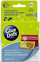 "Glue Dots Clear Dot Roll, Ultra Thin .375"" 300/Pkg"