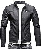 Crone Epic Herren Lederjacke Cleane Basic Leder Jacke in vielen Varianten und Farben (M, Matt Black (Schafsleder))