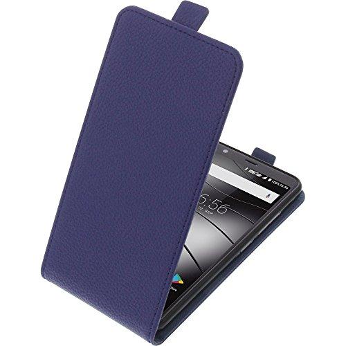 foto-kontor Tasche für Gigaset GS370 / GS370 Plus Smartphone Flipstyle Schutz Hülle blau