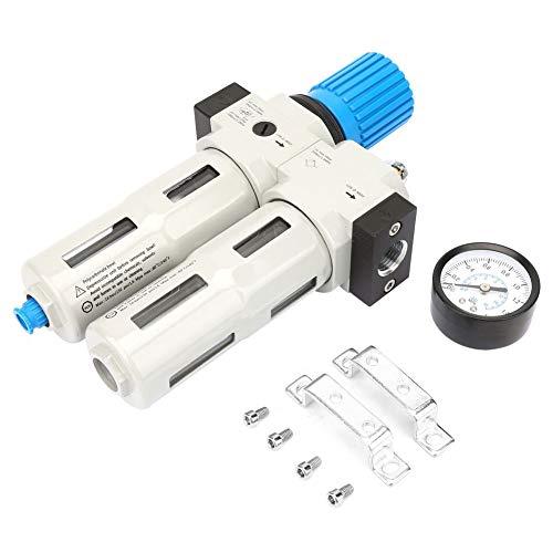 Filtro de Compresor de Aire G1 / 2,Filtro Separador de Agua y Aceite,Válvula Reductora de Presión,Aleación de Aluminio,1.6MPA,Lectura de MPA/BAR