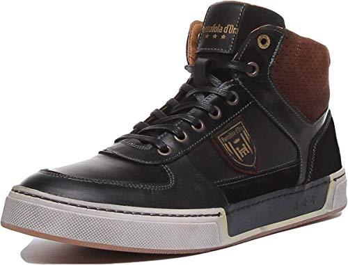 Pantofola d'Oro FREDERICO Uomo Mid, Sneaker a Collo Alto, Nero, 25y, 41 EU