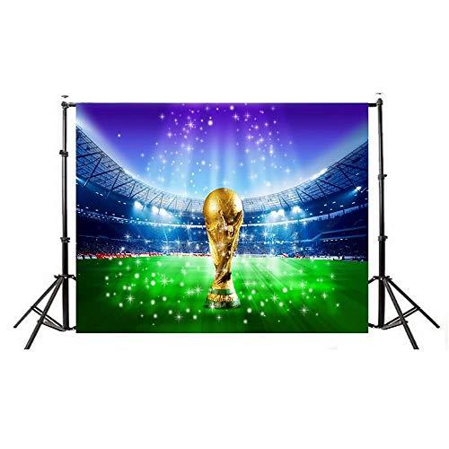Studio Fotografico Sfondo Fotografico Festa di Compleanno Album Personale Coppa del Mondo Calcio Manifesto per Bambini Prodotto # 355 (Color : Multi-Colored, Size : 210 * 150CM)