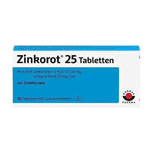 Zinkorot 25 Tabletten: Hochdosierte Zink Tabletten mit 25mg Zinkorotat pro Tablette, nur 1x täglich, 20 Stück