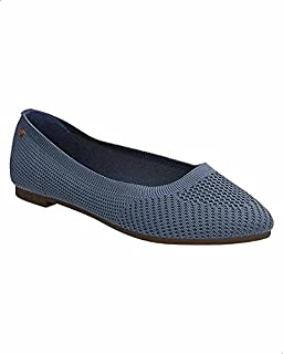 Dejavu PerForated Textile Slip-On Ballerina Shoes For Women