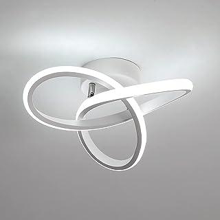 Osairous LED Plafonnier, Lampe de Plafond en Acrylique 22W, Plafonnier dimmable 3000K/4000K/6000K pour Cuisine Salon Chamb...