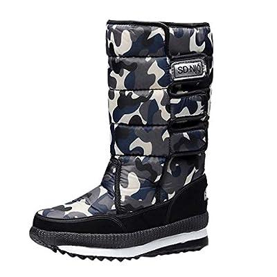 Snow Boots Men's Warm Hook Winter Boots High Tube Waterproof Casual Booties