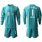 Něǔěr Kids Fussball Jersey Set - Bǎyěrn 2021 Neue Torhüter Football Jersey Kurzarm Fans Sweatshirt / 1# Cyan-M