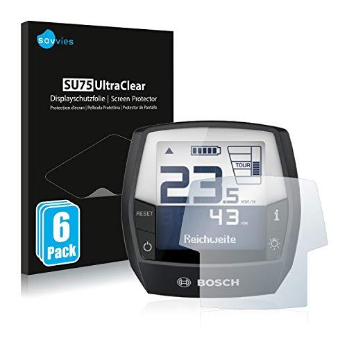 Savvies 6X Schutzfolie kompatibel mit Bosch Intuvia Performance Line (E-Bike Display) Displayschutz-Folie Ultra-transparent