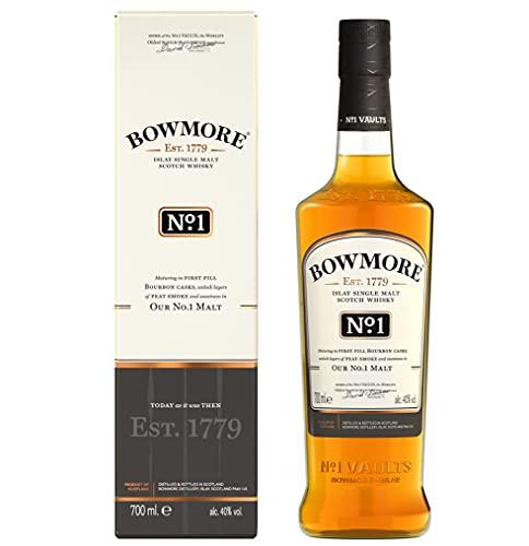 Bowmore N°1 Islay Single Malt Scotch, Whisky Ecossais 40% - 70cl - avec étui