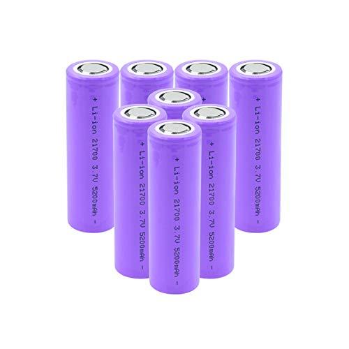 HTRN 3.7v 5200mah 21700 Batería De Iones De Litio, Celda De Iones De Litio Recargable De Alto Drenaje para Antorcha 8pcs