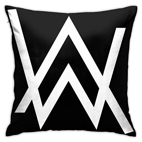HATUO Alann Walkerr - White Logo Merchandise Bedroom Throw Pillow Covers Home Decorative Couch Sofa Square Pillow Case 18x18 in