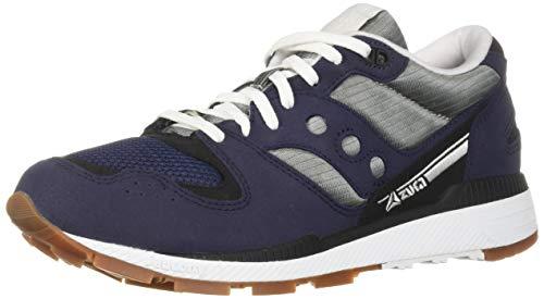 Saucony Men's Azura Sneaker, navy/grey, 9