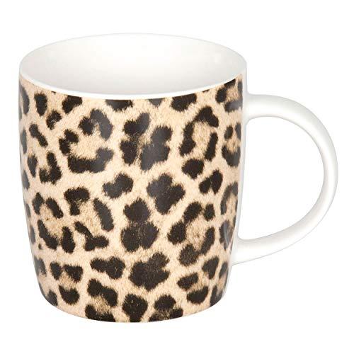 Könitz Wildlife Leopard Becher, Tasse, Kaffeetasse, Bone China, Leopardenmuster, 350 ml, 11 7 275 2352
