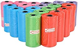 Milky House Pet Waste Bags Dog Poop Bags Disposal Pet Poop Bags Refill Rolls 400 Counts/20 Rolls, Unscented