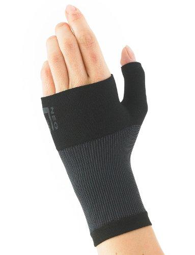 Neo G Airflow Muñequera y Órtesis para pulgar - Talla M - Negro - Calidad de Grado Médico, ligera, transpirable. Ayuda a muñecas débiles, artríticas, esguinces, distensiones, inestabilidad - Unisex ✅